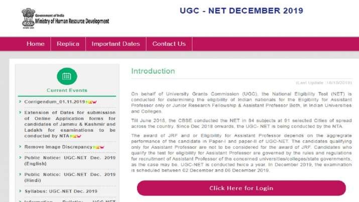 UGC NET Admit Card 2019- India TV