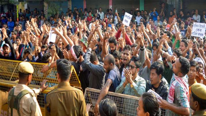 CAB Protest in North east- India TV