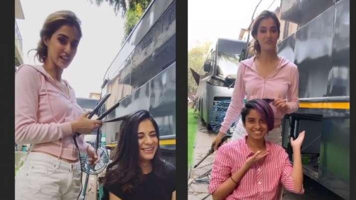 disha patani turns hair stylist- India TV