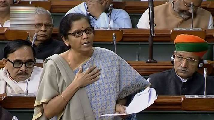 Union Minister Nirmala Sitharaman speaks in the Lok Sabha during the Winter Session of Parliament, i- India TV Paisa