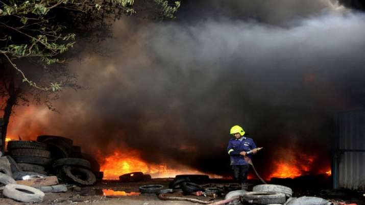 More than two dozen slums burned in a fierce fire in...- India TV
