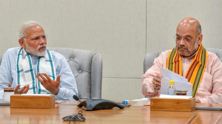 PM Modi with Shah- India TV