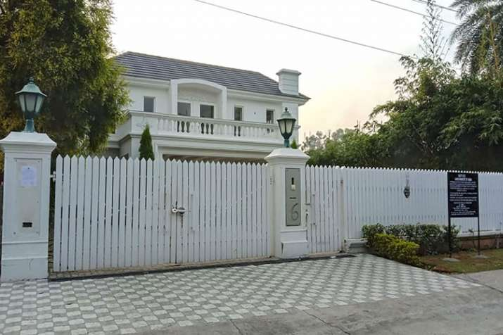A view of the residence of former Haryana chief minister...- India TV