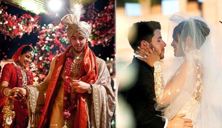 priyanka and nick first wedding anniversary - India TV
