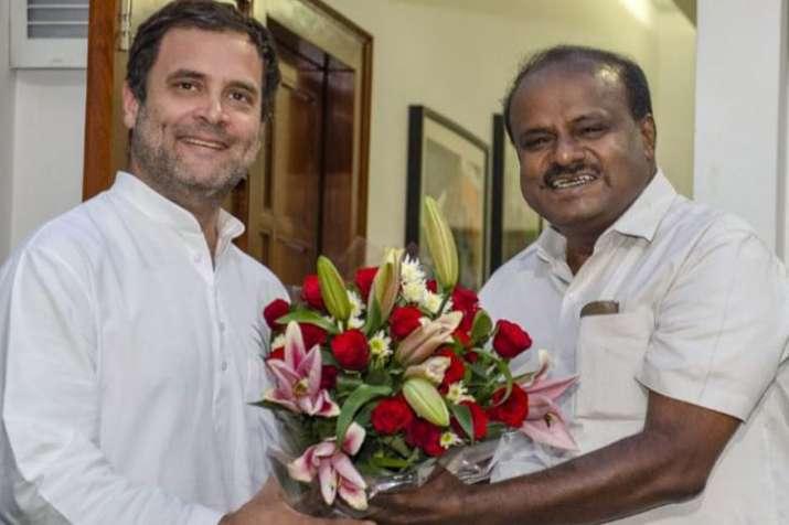 Rahul Gandhi and Kumaraswamy (File photo)- India TV