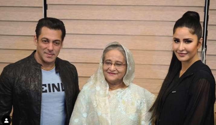 Salman Khan Katrina Kaif with Sheikh Hasina- India TV