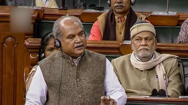 Union Agriculture Minister Narendra Singh Tomar speaks in the Lok Sabha during the ongoing Winter S- India TV Paisa