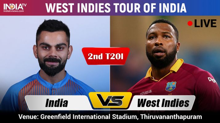 Live Cricket Streaming India vs West Indies 2nd T20I, ind vs wi, ind vs wi dream11, india vs west in- India TV