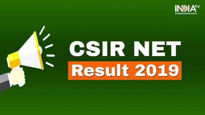 CSIR NET Dec 2019 Result- India TV