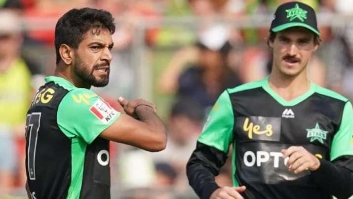 Big Bash League, Pakistan pacer Haris Rauf , Haris Rauf , throat slashing celebration, Sydney Thun- India TV