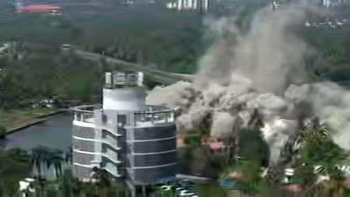 Maradu Flats, Maradu, Maradu Flats of Kochi demolished, Maradu Flats demolished- India TV
