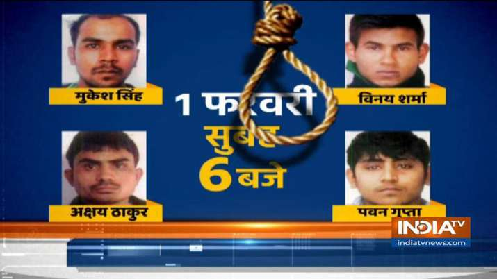 Fresh Death warrant of Nirbhaya Convicts, to be hanged on Feb 1st - India TV
