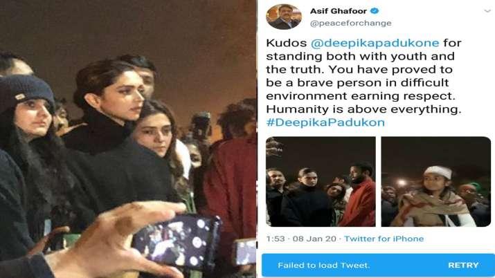 Ghafoor Tweet on Deepika- India TV