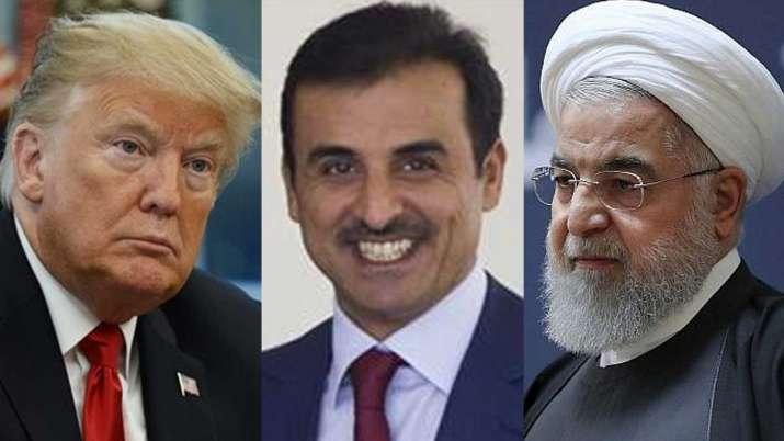 Qatar, Hassan Rouhani, Iran-US crisis, Emir Sheikh Tamim bin Hamad al-Thani, Donald Trump- India TV