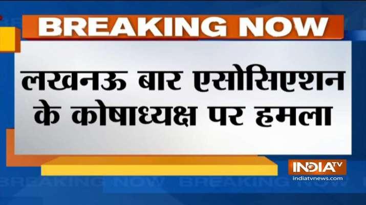 Firing on Lucknow Bar Association treasurer Adarsh Mishra- India TV
