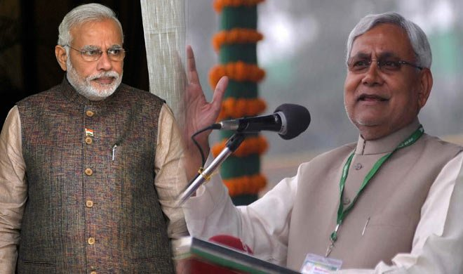 नीतीश का PM मोदी को शपथ...- Khabar IndiaTV